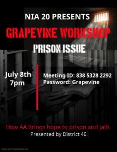 NIA20 Monthly Grapevine Workshop @ Virtual via Zoom
